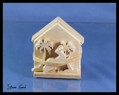 19-W2460 - Tabletop Woodland Nativity Scroll Saw Pattern Set
