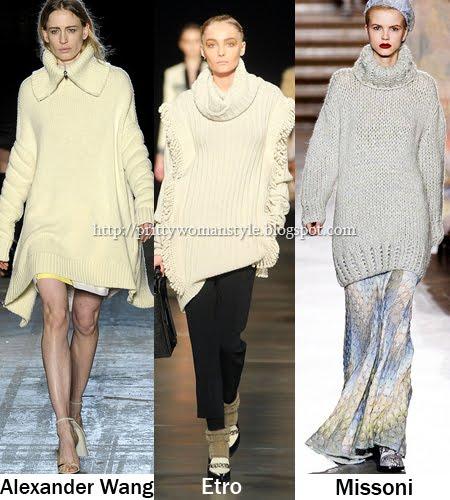 дълги пуловери и блузони с поло и шал яки
