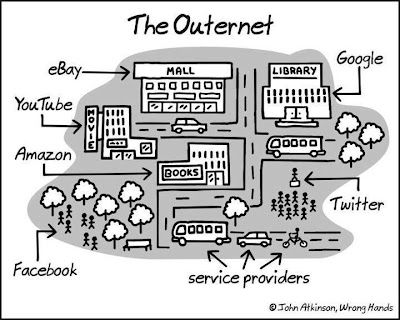 Internet reflects the real world service