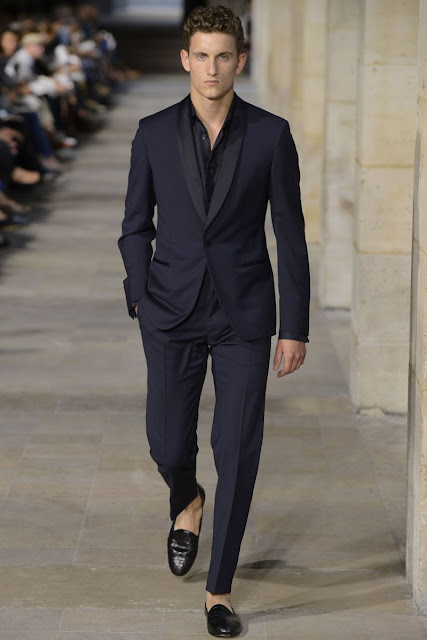 Male model on the runway S/S 2013 Menswear Hermes