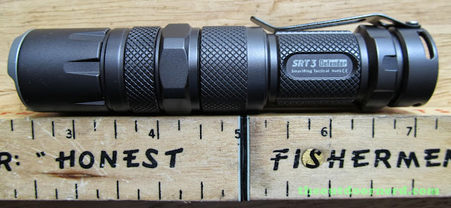 Nitecore SRT3 Defender EDC Flashlight: Next To Ruler With AA Extender