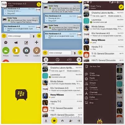 Tampilan BBM Mod Tema Kakao Talk Versi 2.8.0.21 Terbaru
