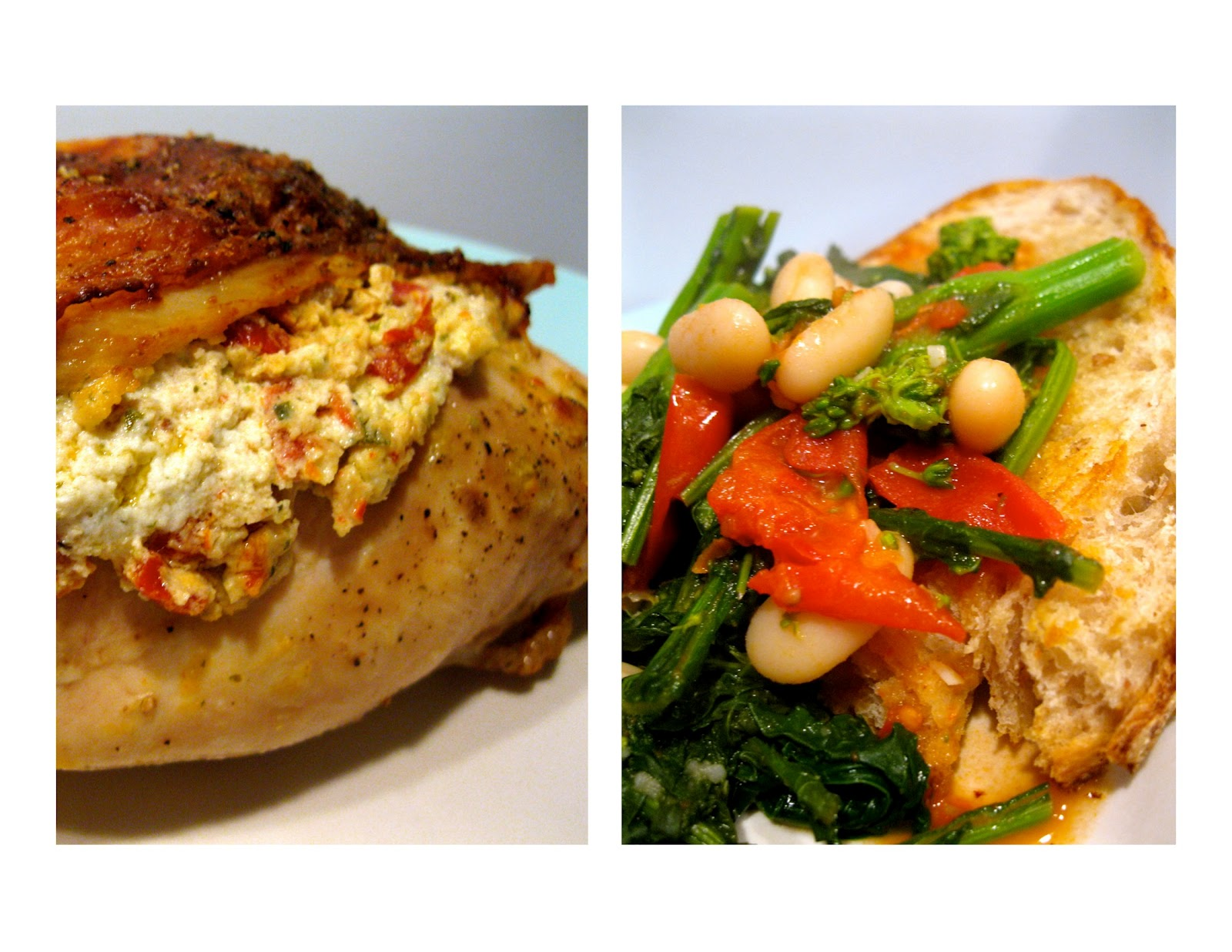 Sun-dried Tomato, Goat Cheese and Basil Stuffed Chicken Breasts