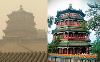 templo verano pekín contaminación pagoda buda fragante