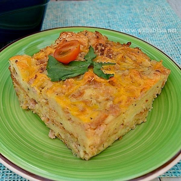 Make a head savory bread pudding