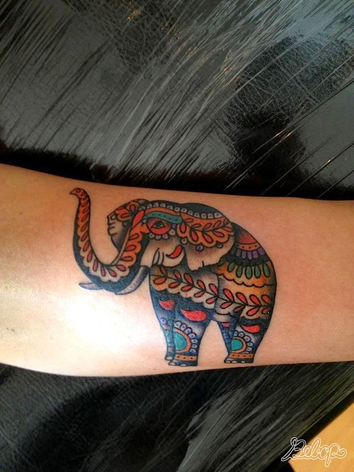 ♥ ♫ ♥ Elephant tattoo meaning   ... in this decorative animal tattoo by Karolina Bebop « « Ratta Tattoo ♥ ♫ ♥