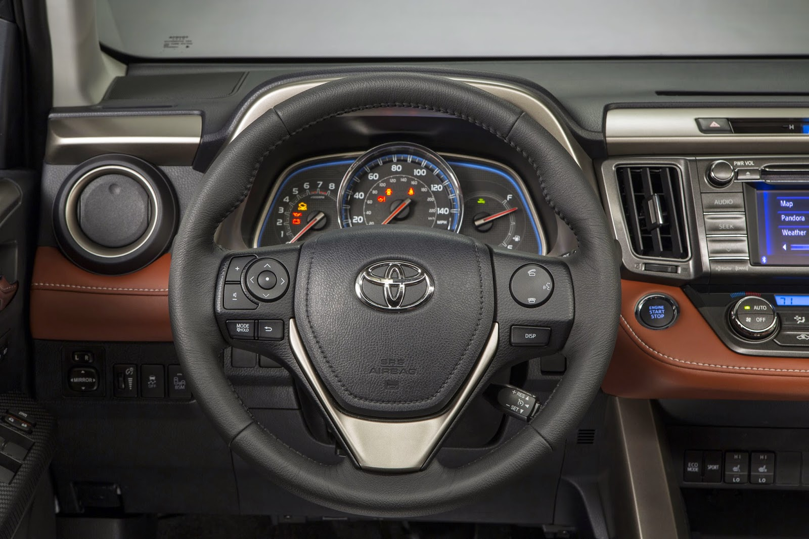Interior view of the 2015 Toyota RAV4 Limited AWD