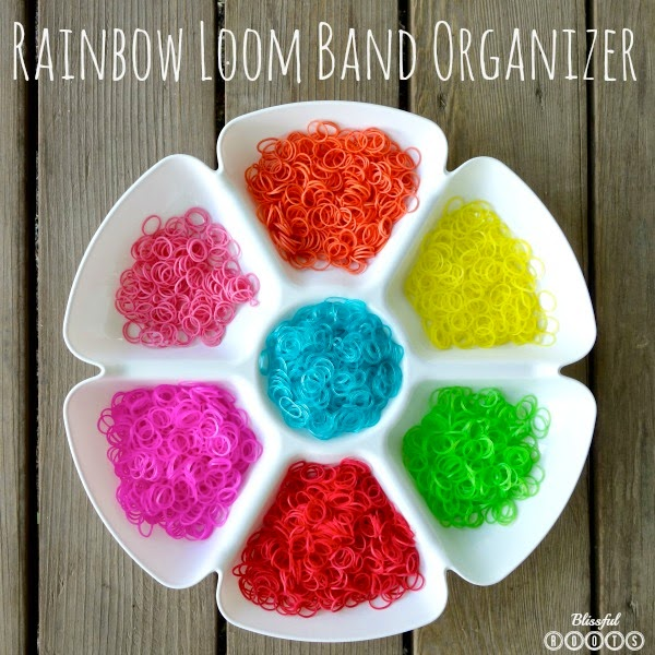 $1 Rainbow Loom Band Organizer @ Blissful Roots