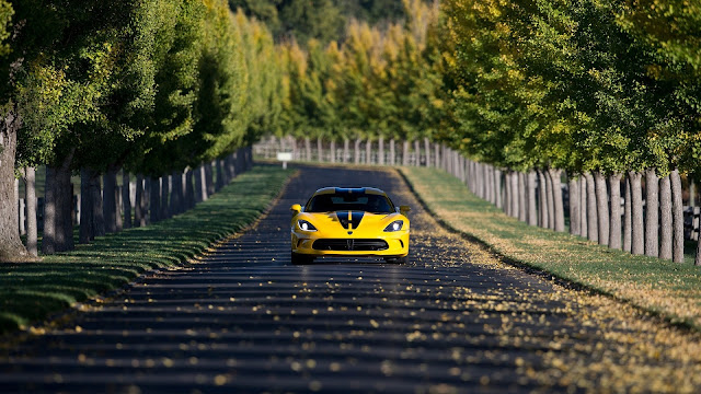Yellow Dodge SRT Viper HD Wallpaper