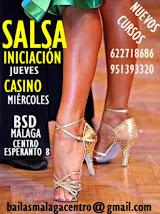 SEPTIEMBRE SALSA INICIACIÓN LÍNEA Y CASINO EN BSD MÁLAGA CENTRO.