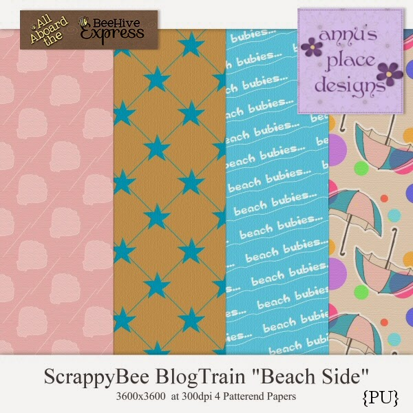 Scrappy Bee Blog Train - Beach Side