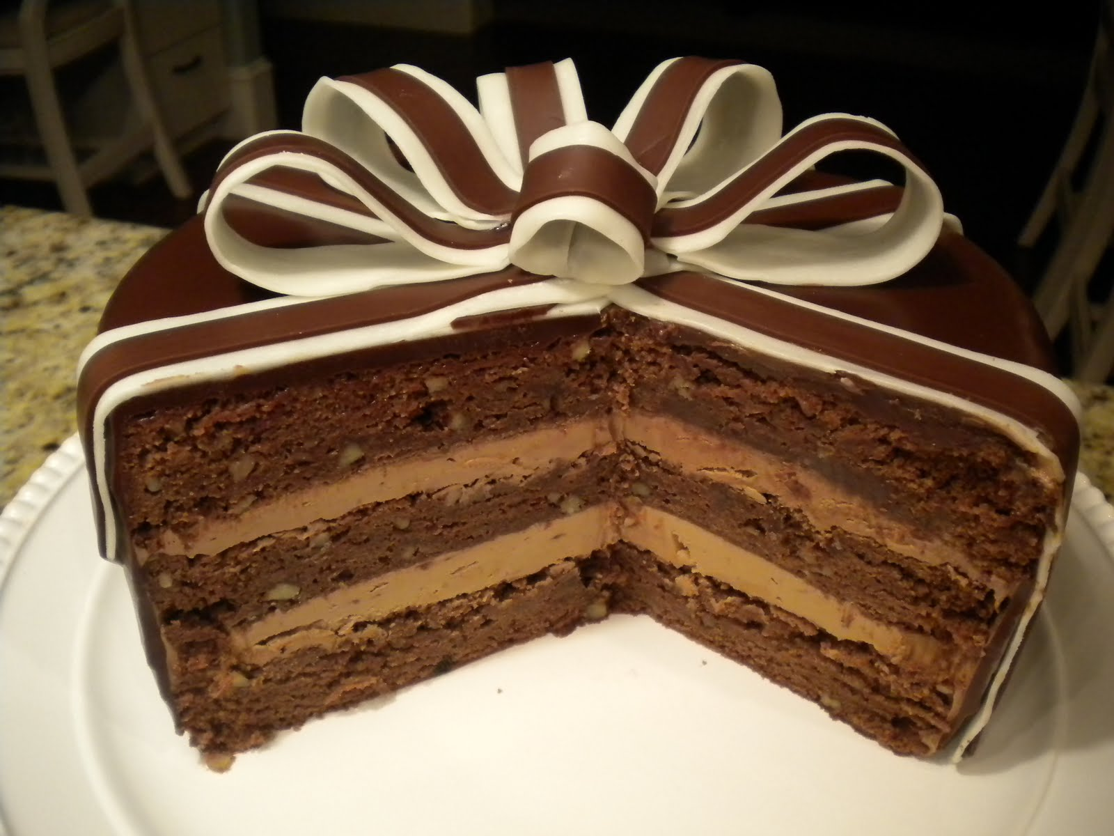 ... by Step Gourmet: Spiced Chocolate Torte Wrapped in Chocolate Ribbons