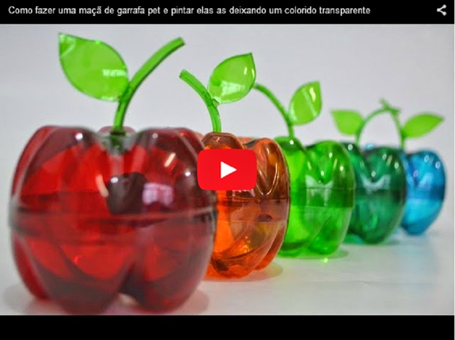 How To Make Colorful Apples Out Of Plastic Bottles Awesome Nature
