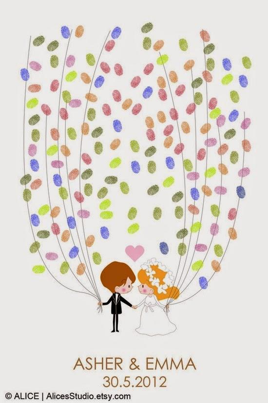 tranh in vân tay đám cưới,tranh in vân tay ngày cưới