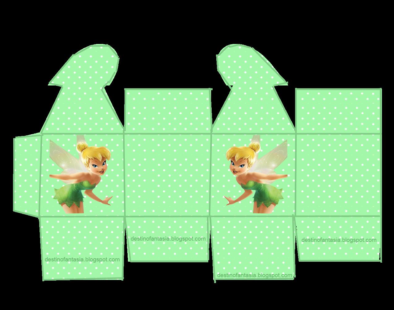 caixa coração Festa da Tinker Bell ( Sininho )