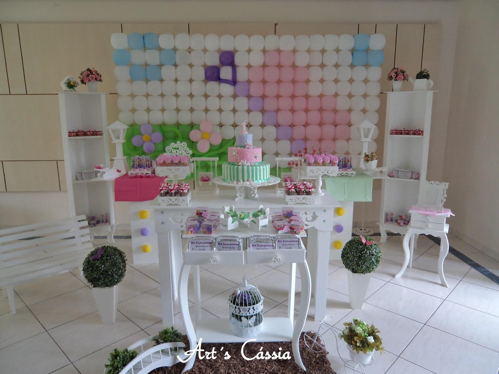 decoracao de bolo jardim encantado:Art's Cássia : Decoração provençal Jardim Encantado