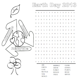 Mary's Craft Nook: Earth Day 2013 - Free Printable Word Search
