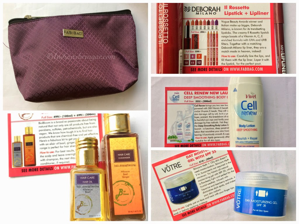 Contents of July 2014 Fabbag