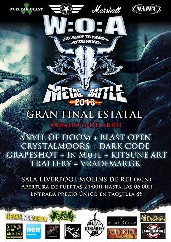 Diario de un Metalhead: W:O:A METAL BATTLE: Cartel de la final 2013