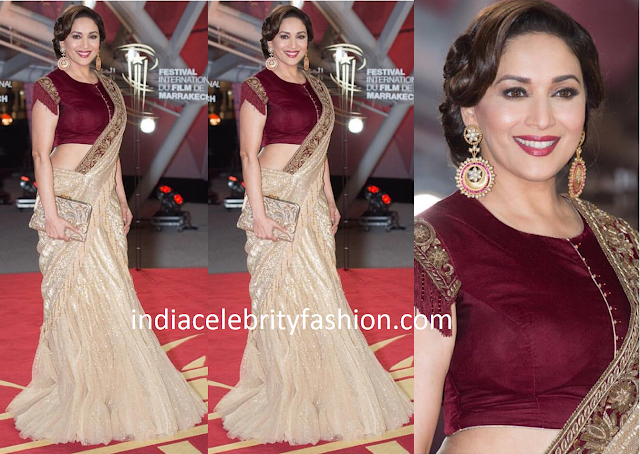 Madhuri Dixit in Saree Gown