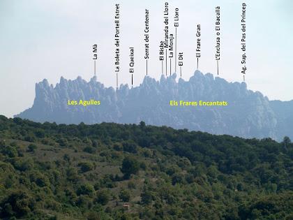 Les regions montserratines de Les Agulles i Els Frares Encantats