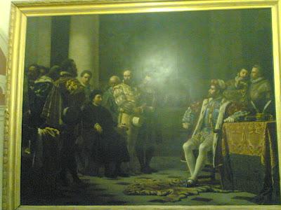 AGOSTINO NIFO ALLA CORTE DI CARLO V .LUIGI TORO, 1876 Sessa Aurunca, Sala del consiglio comunale.