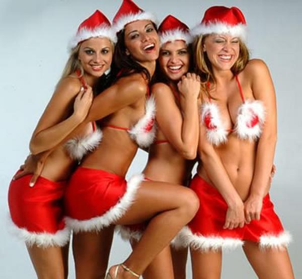 girls Naughty santa
