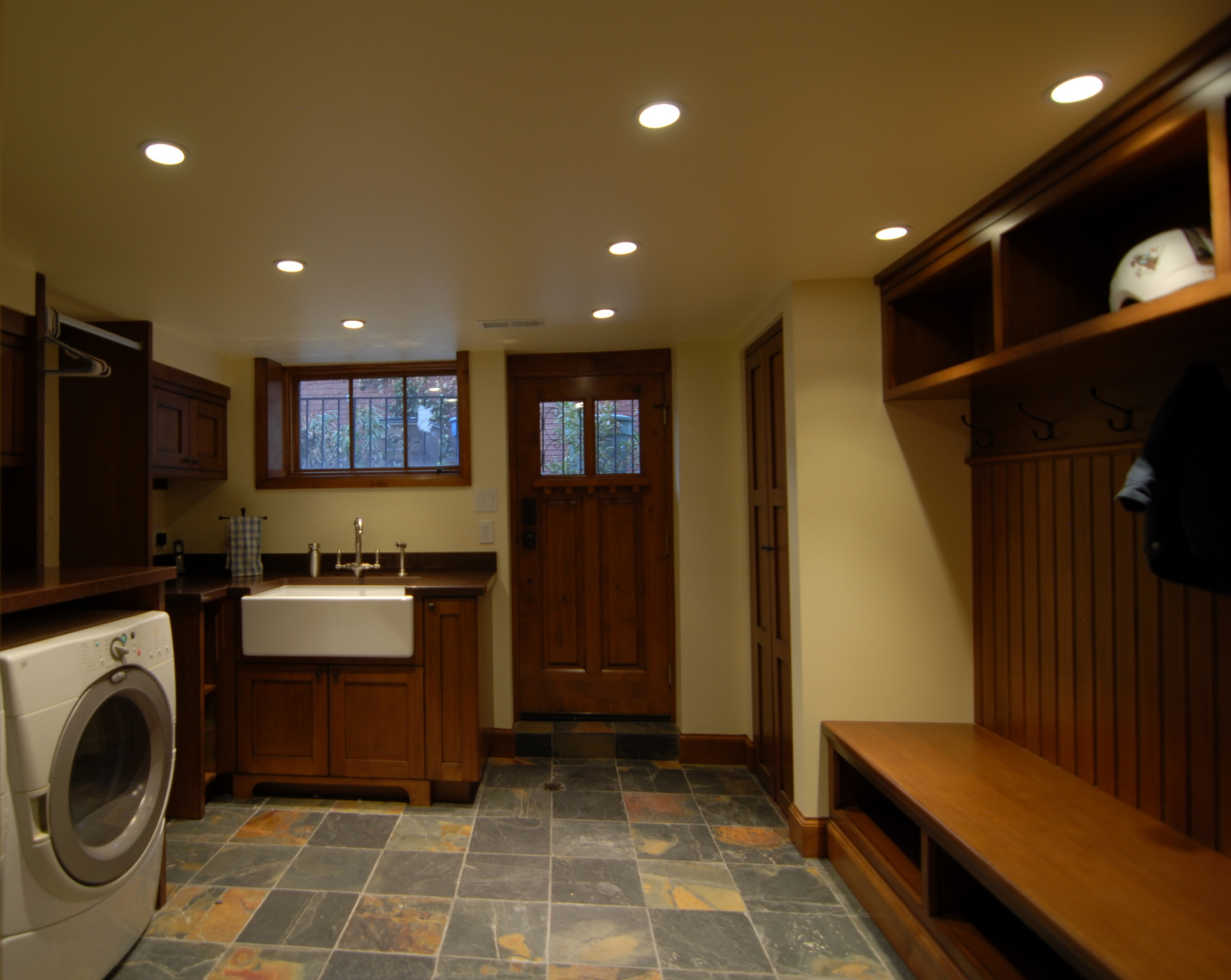 Laundry Room Basement In A Craftsman Home