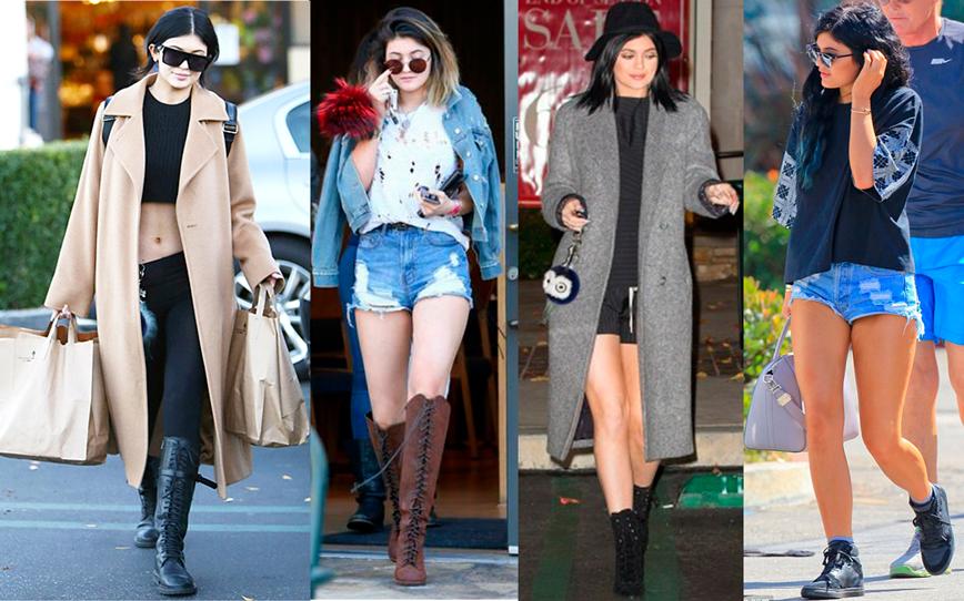 estilo, famosa, kylie jenner, look, roupa