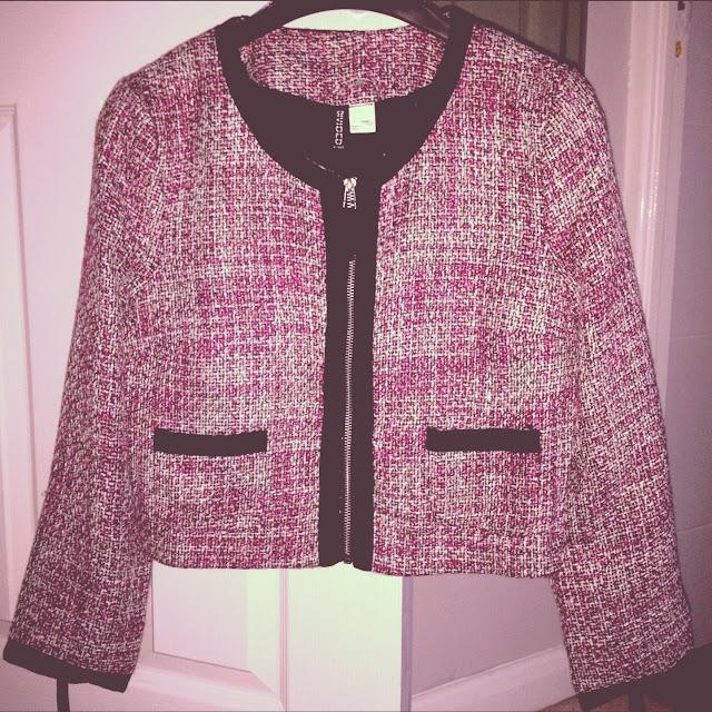 h&m jacket, pink jacket