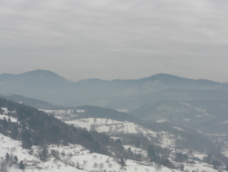 Snowy Vosges mountains