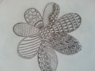 pencil drawings of a mismatched flower