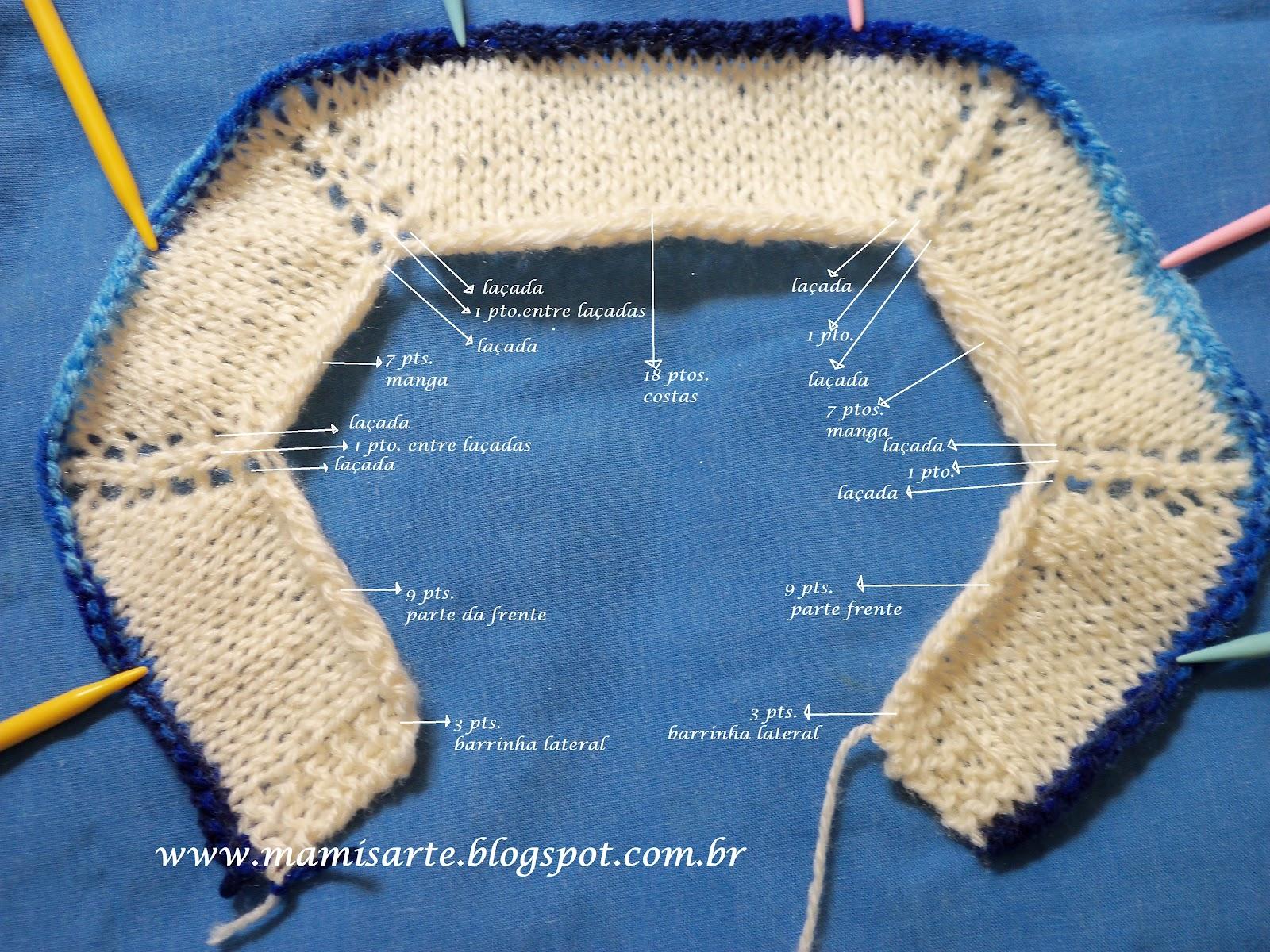 Populares Crochet et Tricot da Mamis: Pala de Casaquinho para bebê em tricot  WM62