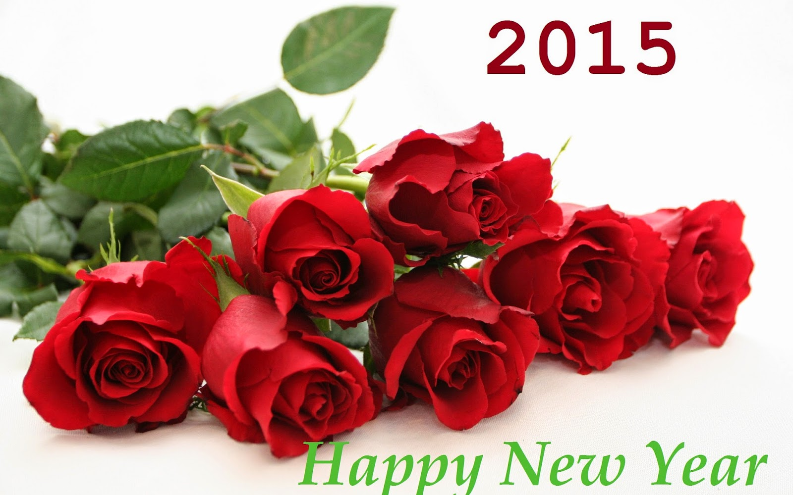 Happy New Year 2015 Greetings Wishes Roses Flower Wallpaper