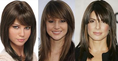 model rambut sebahu berponi