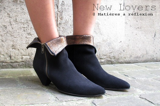 Low boots daim noir New Lover