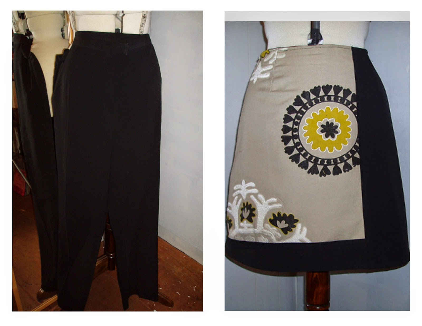 swatch skirt refashion upcycle