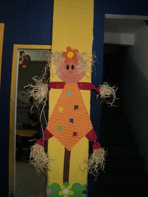 Painel Decoração Festas Juninas Espaço do Educador Ideia Criativa