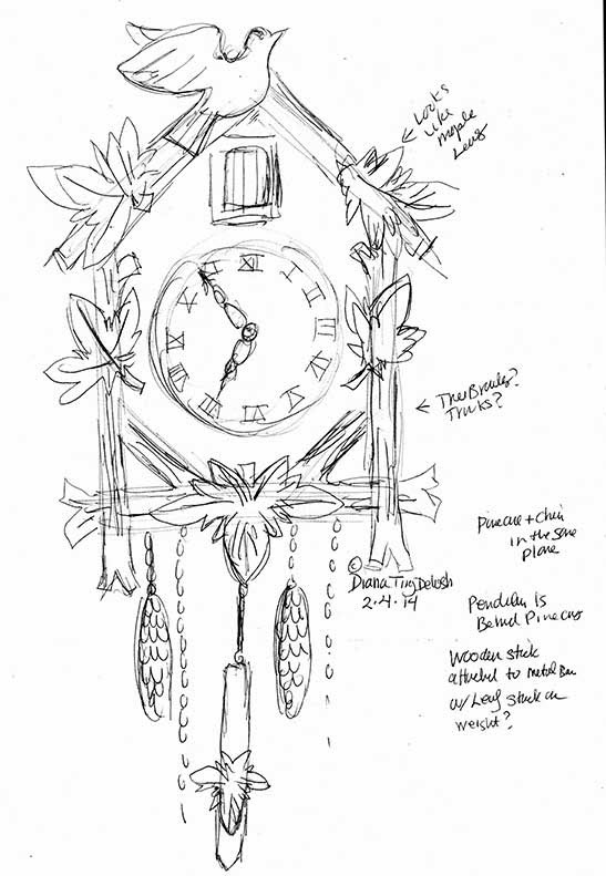 Cuckoo Clock Coloring Pages