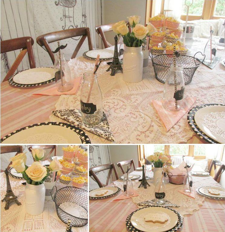 La cafe de paris Party table setting
