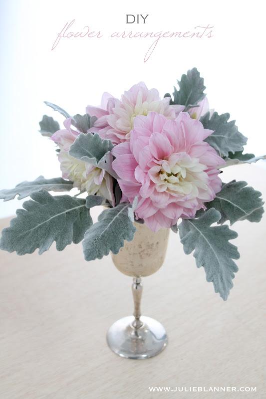 Easy Flower Arrangements easy diy flower arrangements - julie blanner entertaining & home