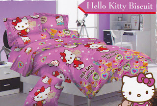 Sprei Love Story Hello Kitty Biscuit