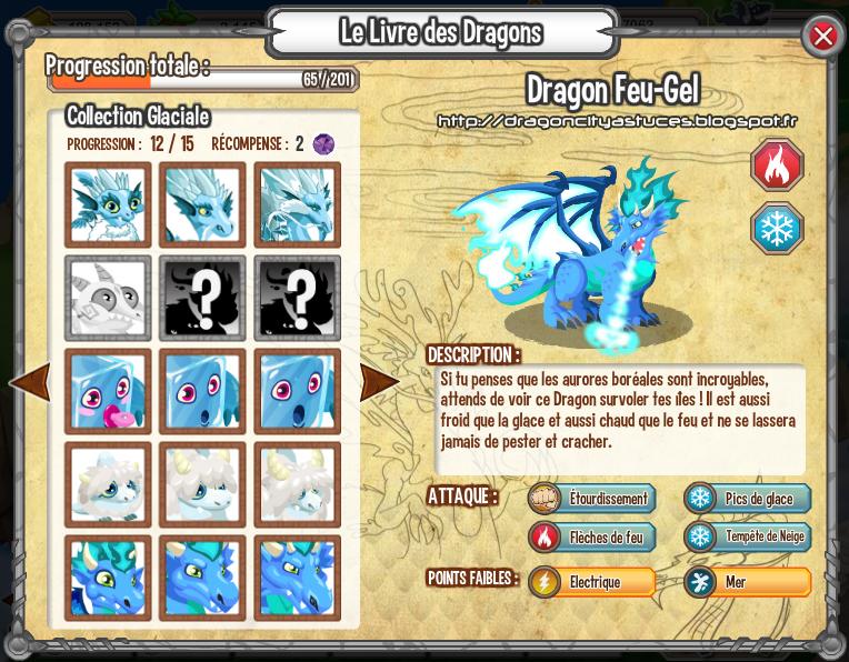 comment avoir dragon feu gel