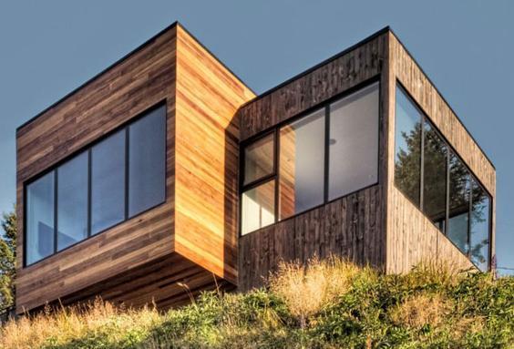 Fachadas de casas fachada casa modular cubo for Casas modernas tipo cubo