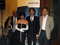 The Jazz Band with an employee from Alstom