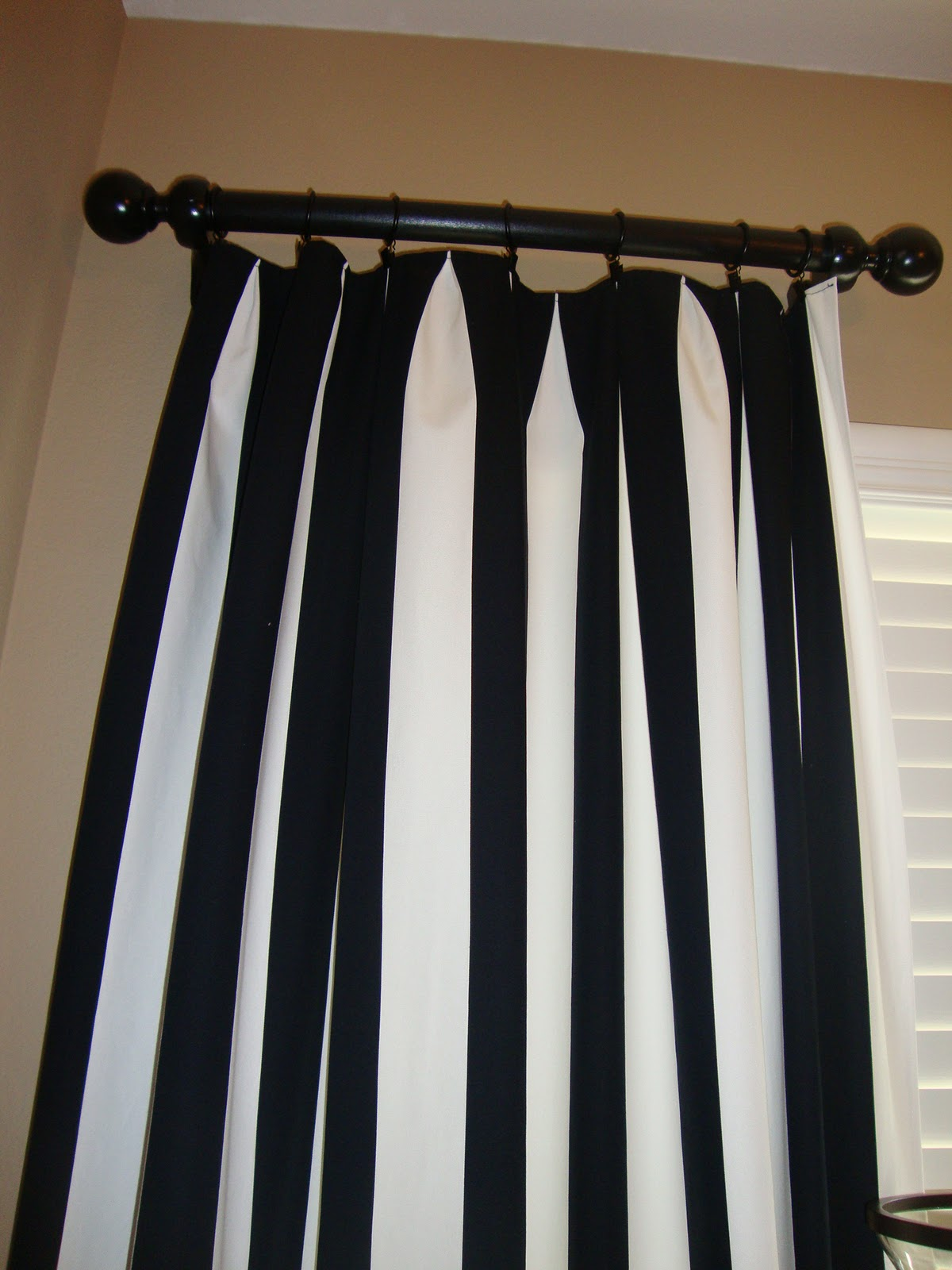 Over Sweet Love Black White Ikea Striped Curtains