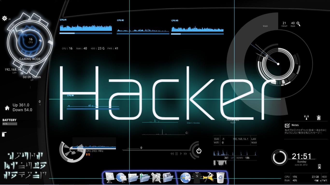 Hacker theme for windows 7 arshan khan for Window 07 themes