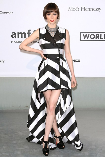 Coco Rocha wore a dress by IRFE at Cannes, AmfAR Gala 2014