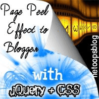 Page Peel effect with jQuery & CSS to Blogger