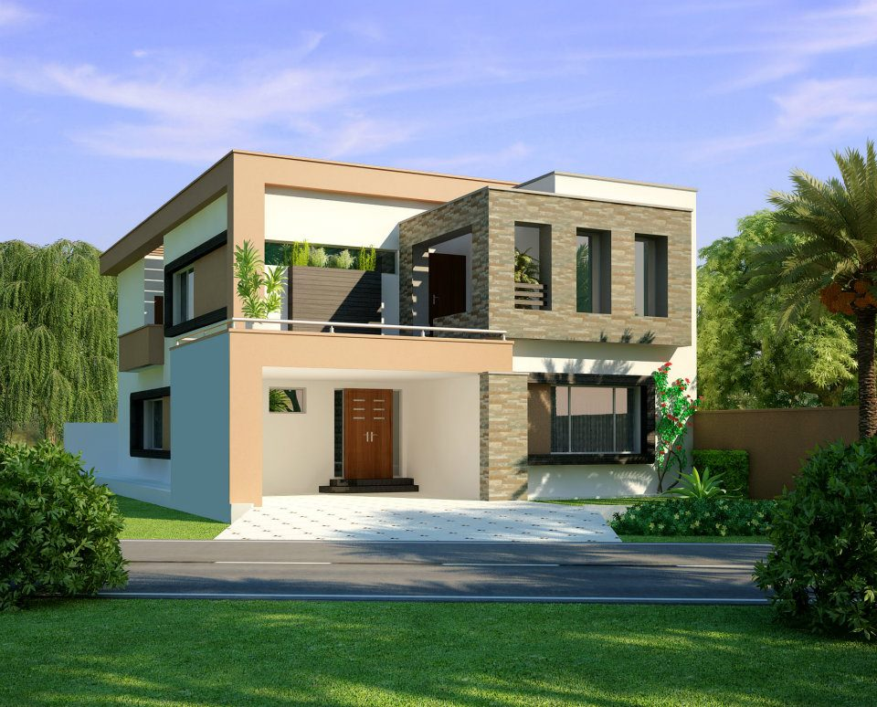Kanal Modern Home Design 3D Front Elevation Lahore Pakistan Design
